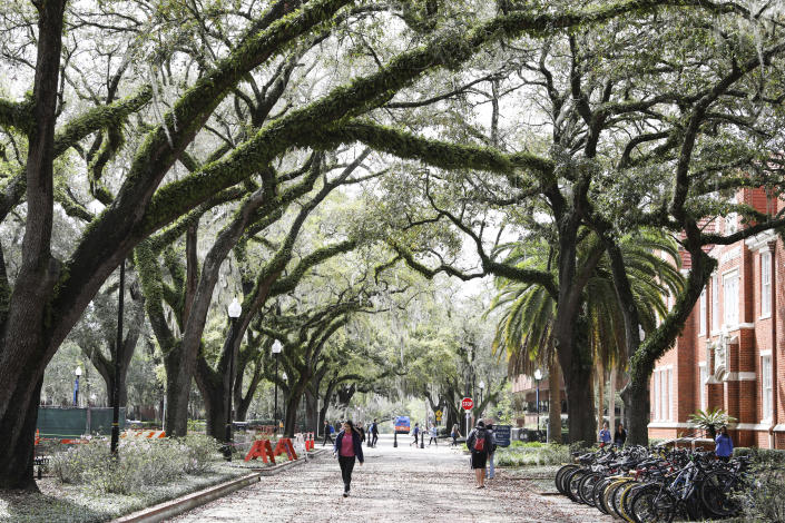 The University of Florida campus in Gainesville, Fla., Feb. 26, 2020. (Eve Edelheit/The New York Times)