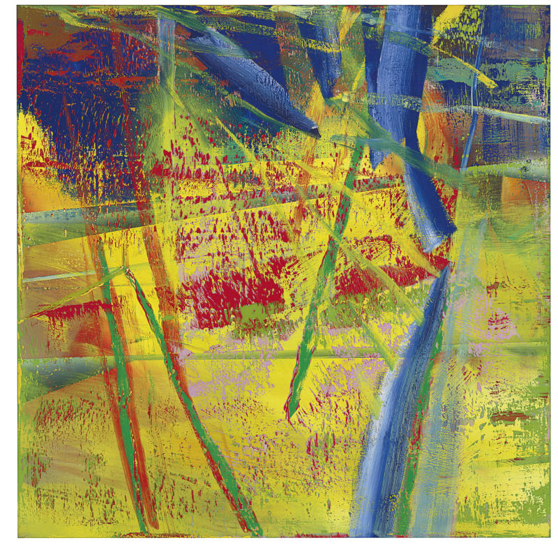 """This undated photo provided by Christie's shows """"Prag 1883""""  by German abstract artist Gerhard Richter that is going on the auction block in New York City. Christie's says the painting is estimated to sell """"in the region of $15 million"""" on Nov. 14. (AP Photo/Christie's)"""