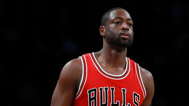 "<a class=""link rapid-noclick-resp"" href=""/nba/players/3708/"" data-ylk=""slk:Dwyane Wade"">Dwyane Wade</a> is a 12-time All-Star and three-time NBA champion. (AP)"
