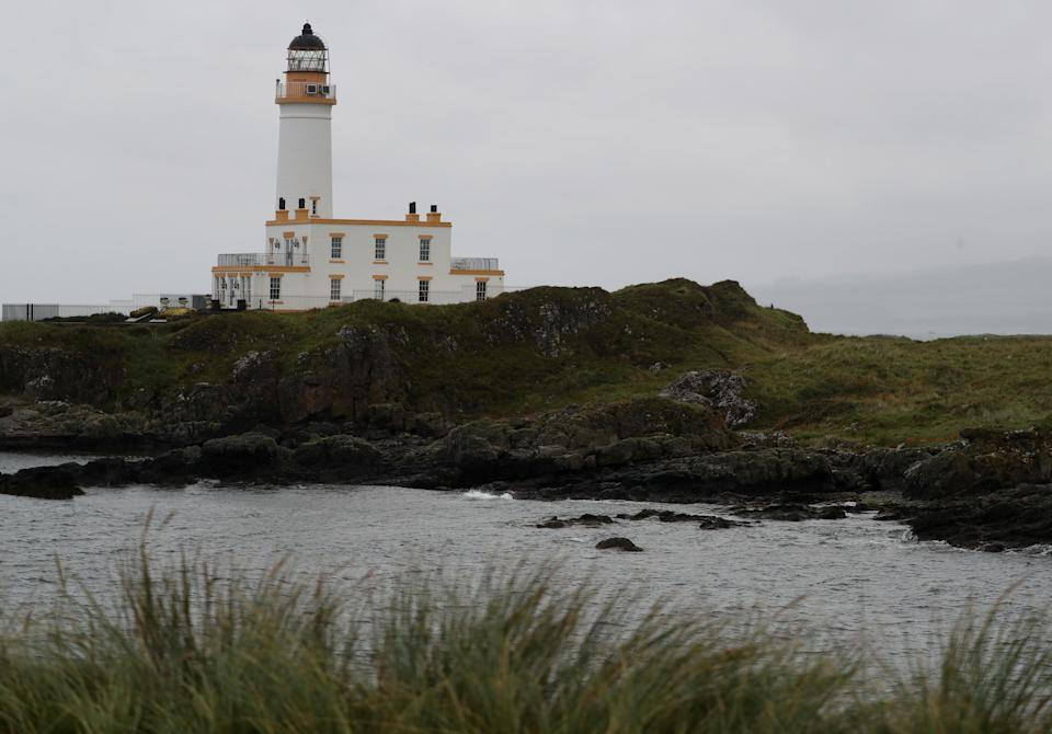 <p>A view of the lighthouse on the Ailsa Championship Course at the Trump Turnberry resort in Ayrshire</p> (Reuters)