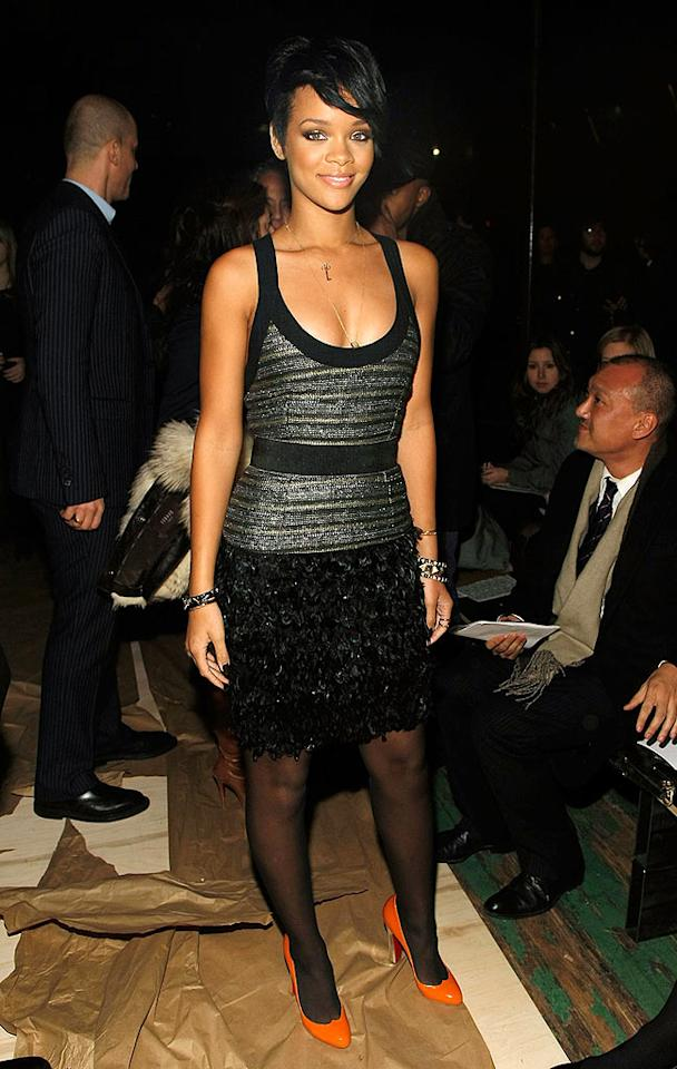 """We love a young lady with a wicked sense of style, but Rihanna is undoubtedly a """"Good Girl Gone Bad"""" in these radiant pumps. Jemal Countess/<a href=""""http://www.wireimage.com"""" target=""""new"""">WireImage.com</a> - February 4, 2008"""