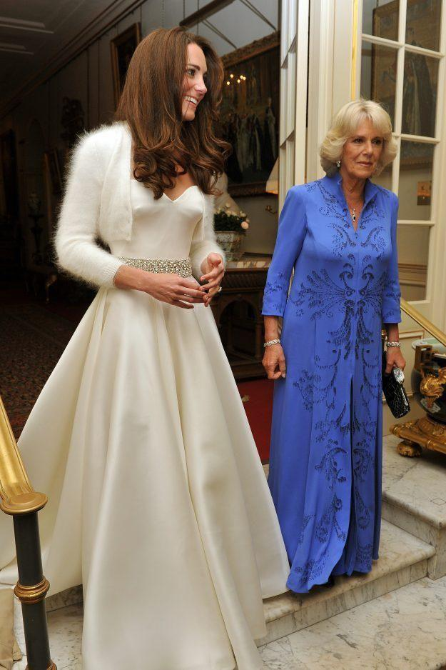 Both of Kate's dresses were designed by Sarah Burton for Alexander McQueen. Photo: Getty