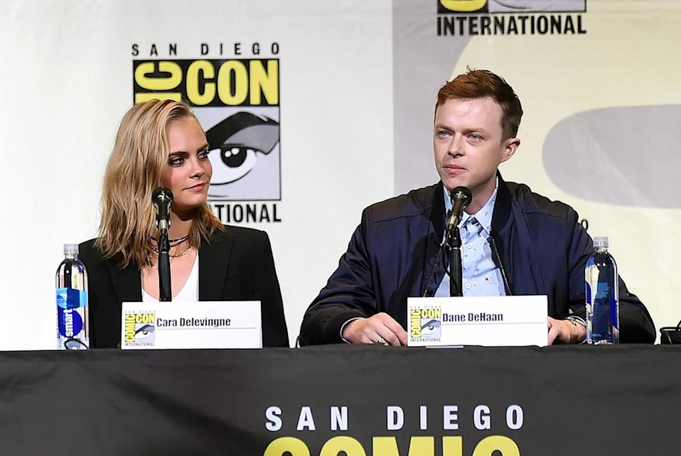 <p>The stars of Luc Besson's futuristic space epic, Cara Delevingne and Dane DeHaan, on July 21. <i>(Photo: Kevin Winter/Getty Images)</i></p>