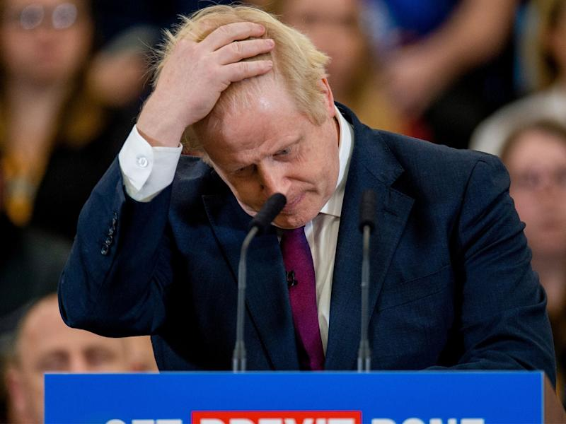 Boris Johnson's predicted majority has been halved in the past fortnight, according to the poll that came closest to predicting the 2017 general election result: Getty