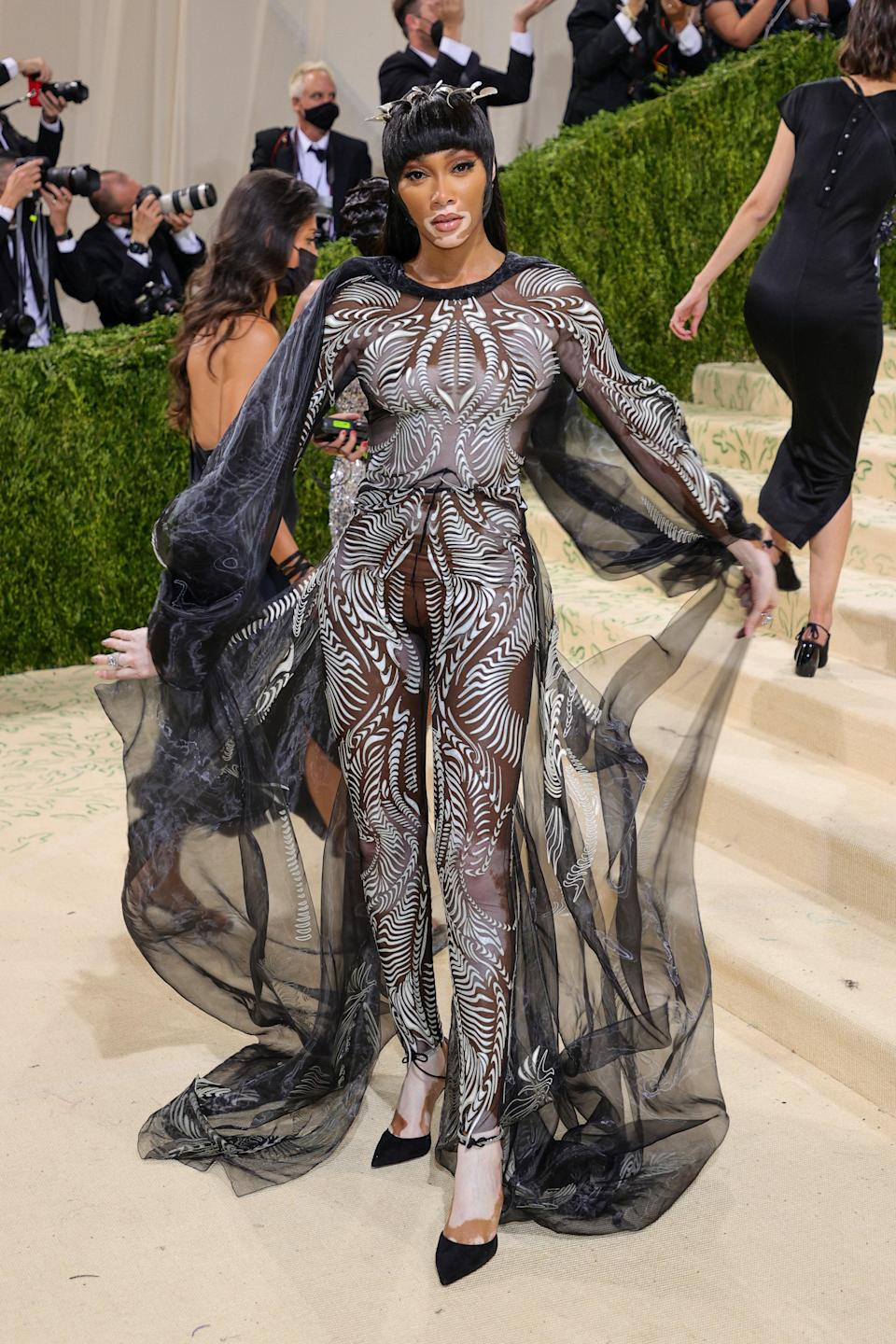 """<h1 class=""""title"""">Winnie Harlow, The 2021 Met Gala Celebrating In America: A Lexicon Of Fashion - Arrivals</h1><cite class=""""credit"""">Getty</cite>"""