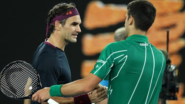 Roger Federer was praised by Novak Djokovic for playing through pain in the Australian Open semi-finals.