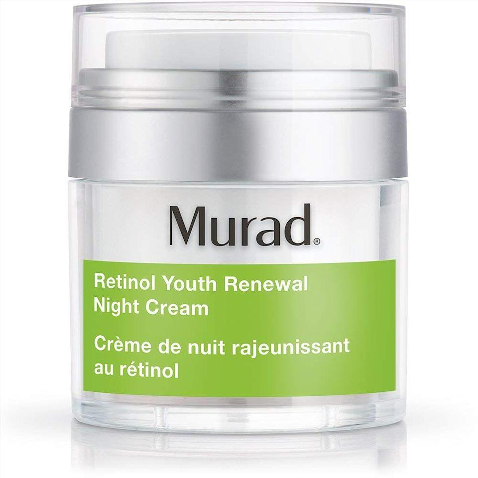 "<p><strong>Murad</strong></p><p>sephora.com</p><p><strong>$49.00</strong></p><p><a href=""https://go.redirectingat.com?id=74968X1596630&url=https%3A%2F%2Fwww.sephora.com%2Fproduct%2Fretinol-youth-renewal-night-cream-P421486&sref=https%3A%2F%2Fwww.harpersbazaar.com%2Fbeauty%2Fskin-care%2Fg25939407%2Fbest-retinol-creams%2F"" rel=""nofollow noopener"" target=""_blank"" data-ylk=""slk:Shop Now"" class=""link rapid-noclick-resp"">Shop Now</a></p><p>A rich, skin-coddling cream that also boasts flower and red algae extract to enhance the anti-aging and line-smoothing effect of the retinol. Use it every night during the winter, then pull back during the warmer months to a few times a week. </p>"