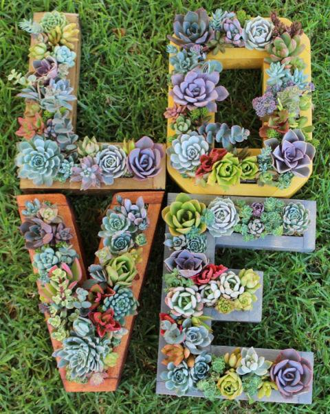 "<p>Instead of only displaying your plants or succulents on a wall, display them with character! You can order pre-made planter letters like these, thanks to Etsy retailer <a rel=""nofollow"" href=""https://www.etsy.com/shop/SucculentWonderland?ref=l2-shop-info-name"">Succulent Wonderland</a>. </p>"