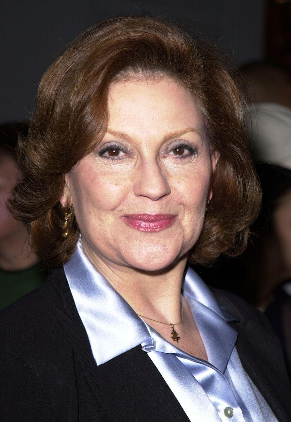 """<p>Kelly Bishop has been working in TV and film since the late '50s. Her first role was on the soap opera <em>As The World Turns</em> and she later appeared in <em>Dirty Dancing. </em>In 2000, the actress was cast in the role of Emily Gilmore, the wealthy and cold matriarch of the Gilmore family. """"I've always enjoyed playing what I call the nasty, rich women. Because I can't stand them,"""" <a href=""""https://tvline.com/2016/11/29/gilmore-girls-cast-panel-revival-netflix-a-year-in-the-life/"""" rel=""""nofollow noopener"""" target=""""_blank"""" data-ylk=""""slk:she said on a panel in 2016"""" class=""""link rapid-noclick-resp"""">she said on a panel in 2016</a>. """"So I try to make them as awful as possible."""" </p>"""