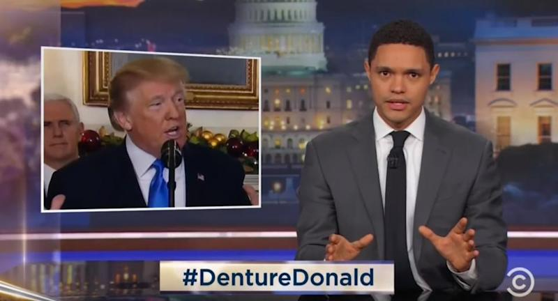 """Denture Donald"" trends because of Trevor Noah"