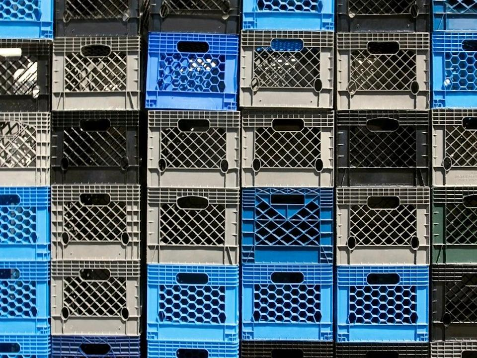Milk crate stack (Getty Images/iStockphoto)