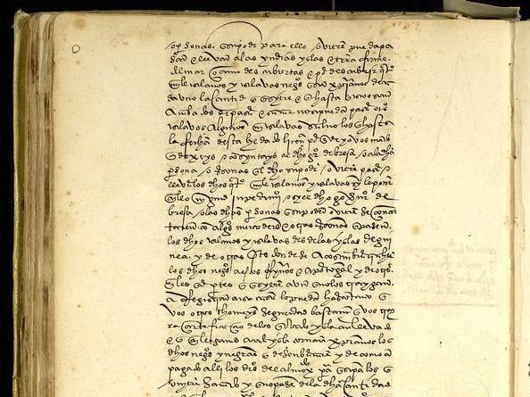 The royal document which launched the Africa to Americas transatlantic slave trade exactly 500 years ago. Issued by the Spanish King, Charles I, its horrific consequences lasted for 350 years (Ministry of Culture and Sports of the Government of Spain/Archivo General de Indias)