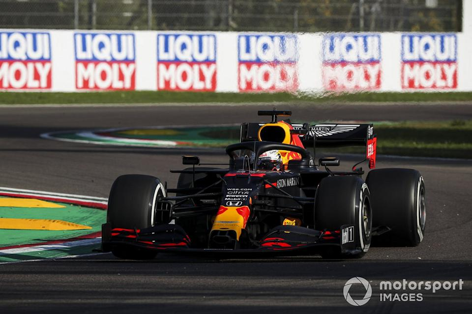 "Max Verstappen, Red Bull Racing RB16<span class=""copyright"">Charles Coates / Motorsport Images</span>"