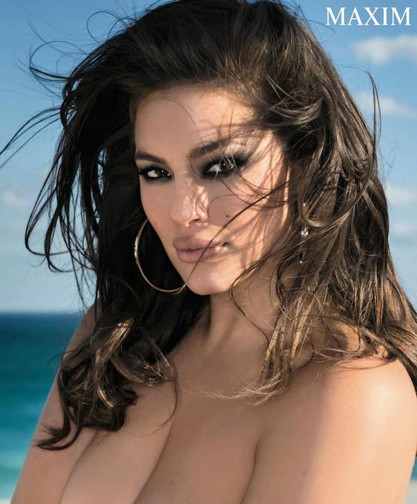 Ashley Graham Is the First Plus-Size Model to Grace the Cover of 'Maxim' America