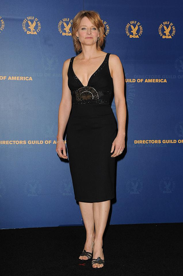 "<a href=""http://movies.yahoo.com/movie/contributor/1800012541"">Jodie Foster</a> at the 62nd Annual Directors Guild of America Awards in Century City, California on January 30, 2010."