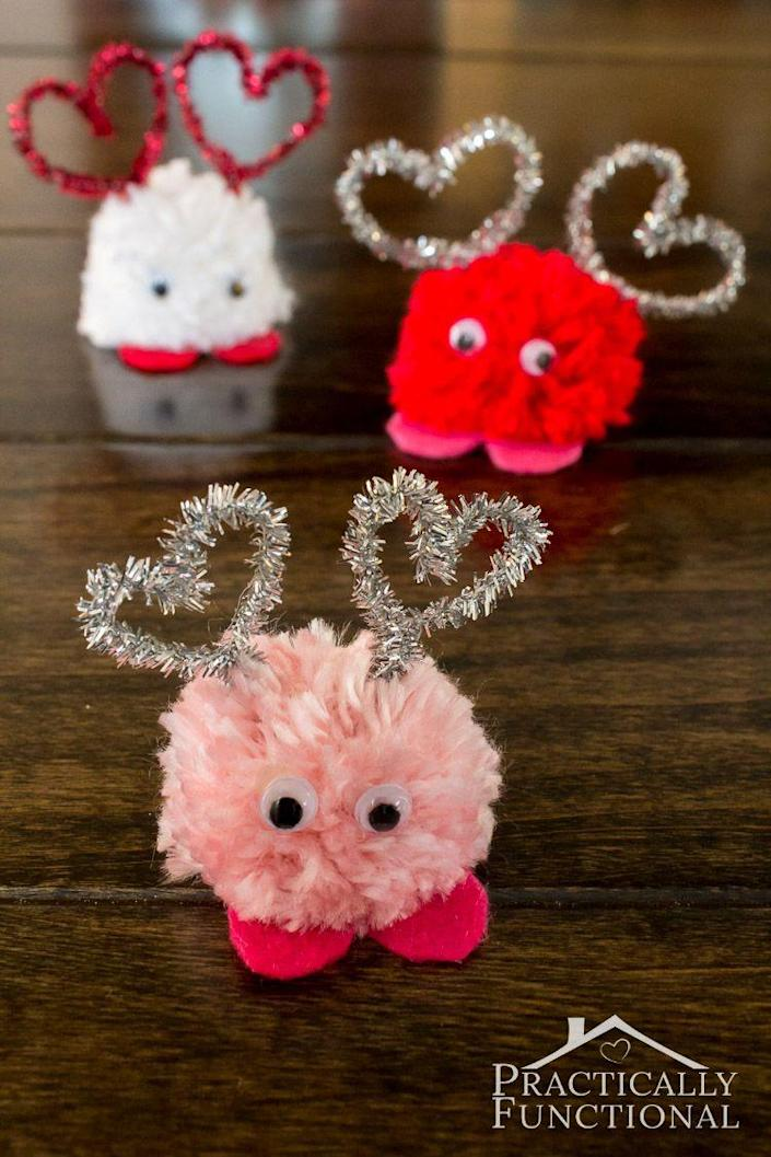 """<p>These cute little critters take just 10 minutes to craft.</p><p><strong>Get the tutorial at <a href=""""https://www.practicallyfunctional.com/how-to-make-pom-pom-monsters/"""" rel=""""nofollow noopener"""" target=""""_blank"""" data-ylk=""""slk:Practically Functional"""" class=""""link rapid-noclick-resp"""">Practically Functional</a>.</strong></p><p><a class=""""link rapid-noclick-resp"""" href=""""https://www.amazon.com/Cleaners-Contains-Chenille-Handmade-Decoration/dp/B07WFZ215C/ref=sr_1_2_sspa?tag=syn-yahoo-20&ascsubtag=%5Bartid%7C10050.g.1584%5Bsrc%7Cyahoo-us"""" rel=""""nofollow noopener"""" target=""""_blank"""" data-ylk=""""slk:SHOP PIPE CLEANERS"""">SHOP PIPE CLEANERS</a><strong><br></strong></p>"""