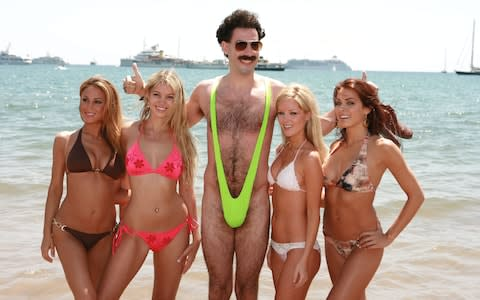 The item was made famous by Sacha Baron Cohen in the film Borat