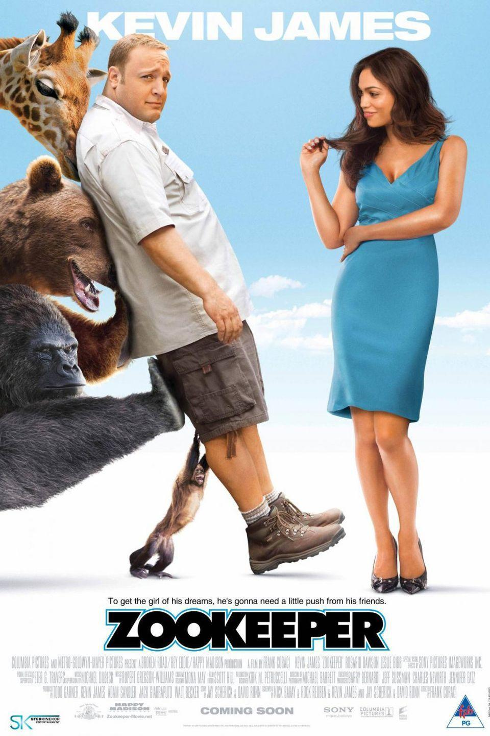 <p><strong>Role: </strong>Donald the Capuchin Monkey<br></p><p><em>Night at the Museum</em>, but with a zoo and Adam Sandler is a monkey.<br></p>