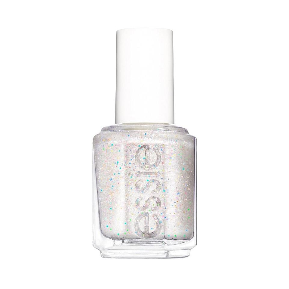<p>Icy, like the weather outside, wear Essie's iridescent white polish alone or use it as top coat to give any color a shimmery finish. </p>