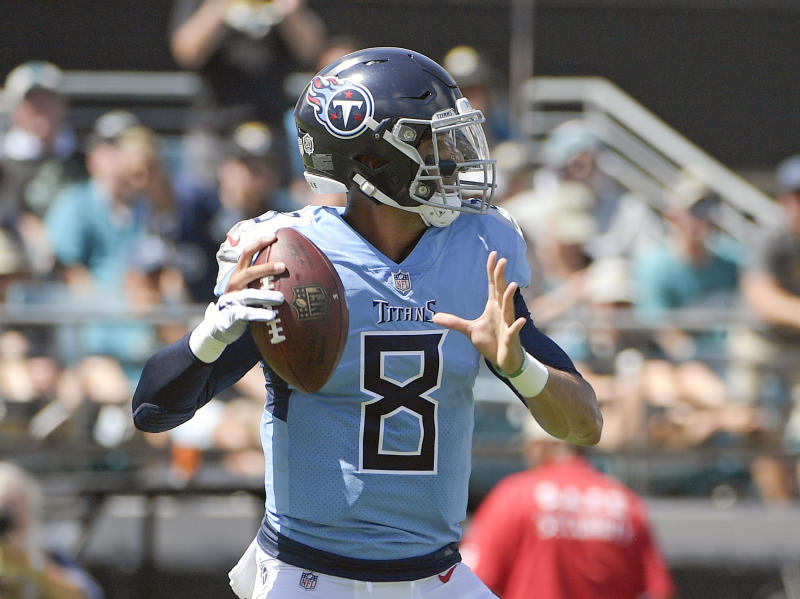 The Titans are planning on Marcus Mariota starting Sunday