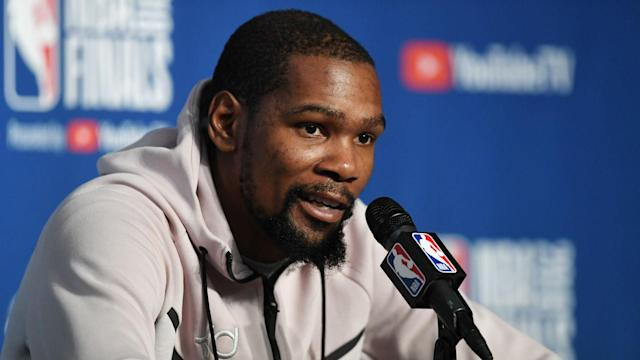 Although Kevin Durant fired the Golden State Warriors to the brink of another NBA title, he remains too focused to discuss his achievements.