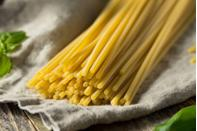 <p><strong>Category: </strong>Tubular pasta<br><strong><strong>Pronunciation:</strong></strong> Boo-ka-tini<br><strong>Literal meaning: </strong>Little holes<strong><br>Typical pasta cooking time: </strong>9-13 minutes</p>