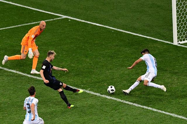 Rakitic completed the 3-0 rout of Argentina in the group stage with a goal in stoppage time (AFP Photo/Martin BERNETTI)