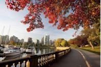 <p>Vancouver's 17-mile Seawall running trail is the world's longest uninterrupted waterfront path, so that alone should be an enticing reason for a runner to visit Canada's west coast gem. Run through Stanley Park or head out of town a bit to the many accessible trails. Finish it off with one of those maple cookies I can never get enough of.</p>