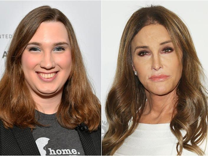 Composite picture of Sarah McBride, left, and Caitlyn Jenner, right.