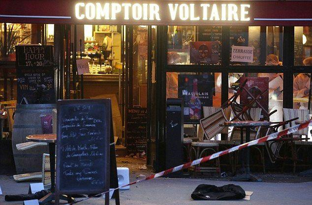 On November 13, 2015, Brahim wandered into the Comptoir Voltaire cafe and blew himself up. Photo: AFP/Getty
