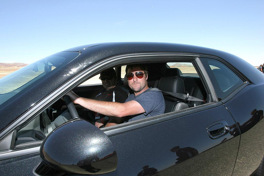 """Luke Wilson looks ready to rev things up at the Dodge Challenger Celebrity Drag Race in Rosamond, California. Alexandra Wyman/<a href=""""http://www.wireimage.com"""" target=""""new"""">WireImage.com</a> - June 3, 2008"""