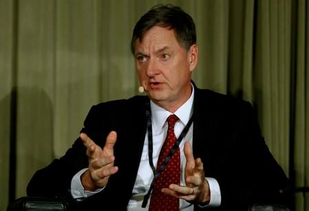 FILE PHOTO: Federal Reserve Bank of Chicago President Evans participates in discussion in Zurich