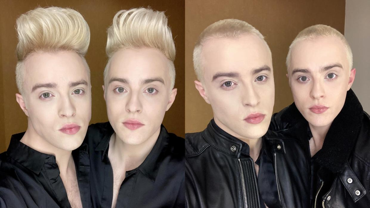 Jedward recently shaved their heads in honour of their mother. (Instagram)