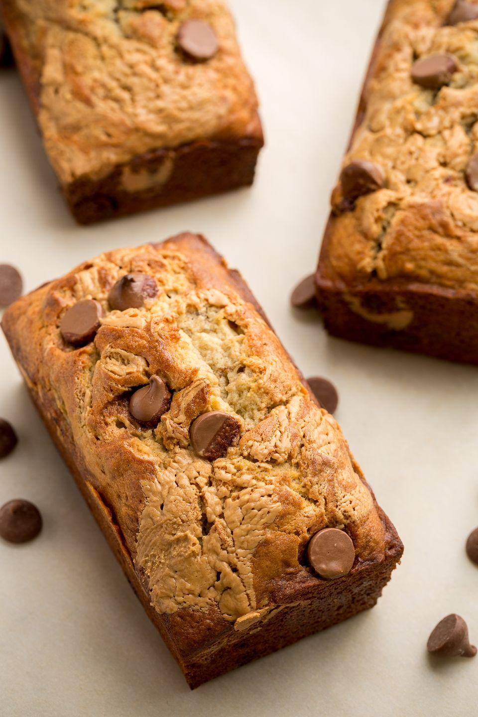 """<p>The best dessert combo ever makes its way to b bread</p><p>Get the recipe from <a href=""""/cooking/recipe-ideas/recipes/a46615/chocolate-peanut-butter-banana-bread-recipe/"""" data-ylk=""""slk:Delish"""" class=""""link rapid-noclick-resp"""">Delish</a>.</p>"""