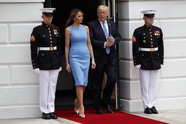 <em>President Trump and First Lady Melania Trump. [Photo: AP]</em>