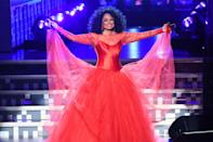 <p>Looking princess-like at the 2019 Grammy Awards in L.A.</p>