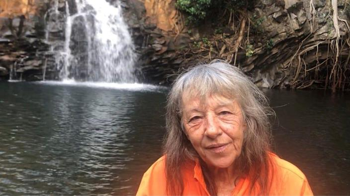 Ute Viole, the ranger and unofficial historian at Twin Falls at Wailele Farm, also has to play traffic cop and says tourists who have come to Maui after being cooped up amid COVID cuss at staff regularly.