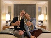 "<p>The Olympian and his longtime boyfriend proposed to each other while Rippon was visiting Kajaala's home in Finland. ""We bought the rings together and picked them up at the same time. I really wanted us to have rings from Finland,"" <a href=""https://people.com/sports/adam-rippon-is-engaged-to-boyfriend-jussi-pekka-kajaala/"" rel=""nofollow noopener"" target=""_blank"" data-ylk=""slk:Rippon told PEOPLE."" class=""link rapid-noclick-resp"">Rippon told PEOPLE.</a> ""I thought it would be fun to have a little piece of Finland with us all the time as JP is getting ready to move to Los Angeles hopefully by the end of the year.""</p>"