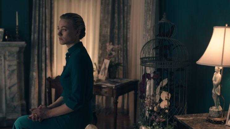Yvonne Strahovsky as Serena Joy in 'The Handmaid's Tale' (Photo by: Take Five/Hulu)