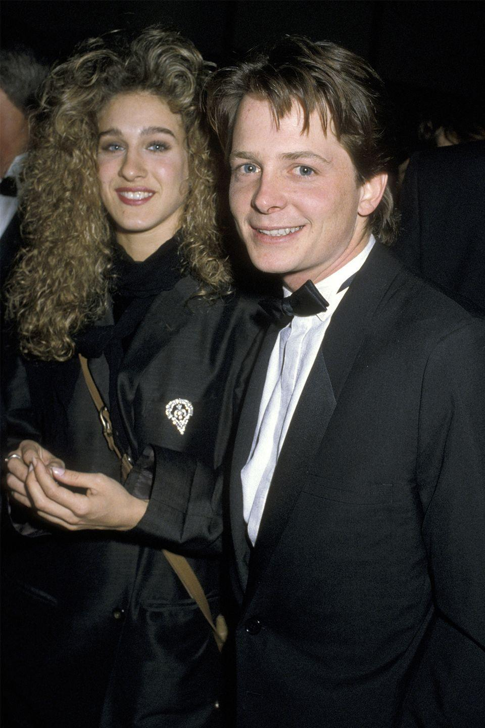 """<p>The <em>Back to the Future </em>star and the <em>Sex and the City</em> star used to be an item in the 1980s. The relationship reportedly lasted a year, but despite their many photos together, there was speculation that the couple was <a href=""""http://www.ninjajournalist.com/entertainment/michael-j-fox/"""" rel=""""nofollow noopener"""" target=""""_blank"""" data-ylk=""""slk:together as a PR stunt"""" class=""""link rapid-noclick-resp"""">together as a PR stunt</a>. </p>"""