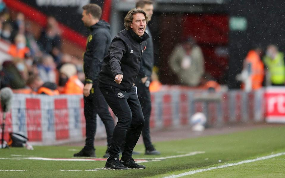 Manager Thomas Frank of Brentford during the Sky Bet Championship Play-off Semi Final 1st Leg match between AFC Bournemouth and Brentford at Vitality Stadium on May 17, 2021 in Bournemouth, - Robin Jones/AFC Bournemouth via Getty Images