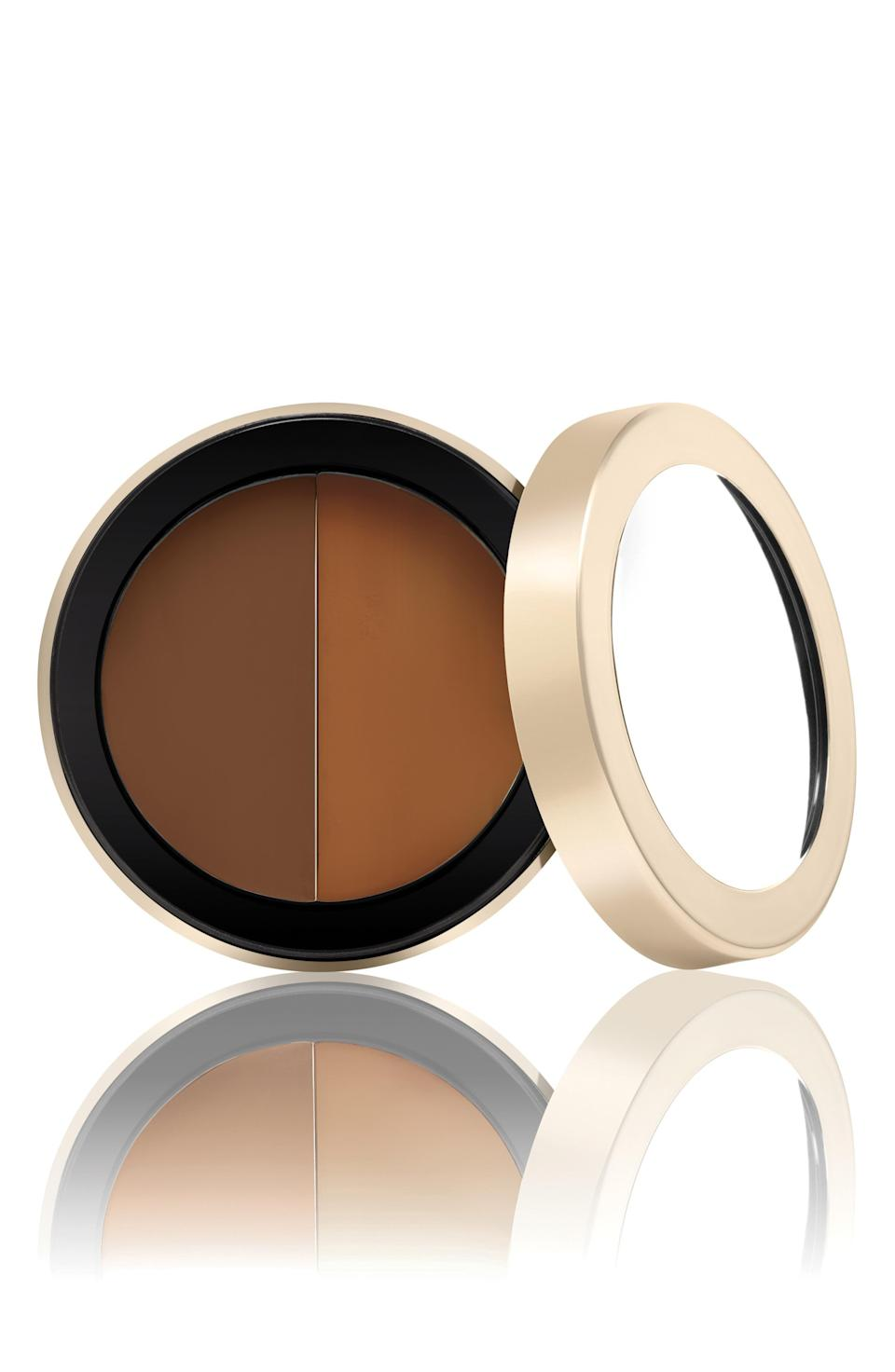 """<p><strong>JANE IREDALE</strong></p><p>nordstrom.com</p><p><strong>$32.00</strong></p><p><a href=""""https://go.redirectingat.com?id=74968X1596630&url=https%3A%2F%2Fwww.nordstrom.com%2Fs%2Fjane-iredale-circle-delete-under-eye-concealer%2F3053528&sref=https%3A%2F%2Fwww.thepioneerwoman.com%2Fbeauty%2Fskin-makeup-nails%2Fg36563969%2Fbest-concealers-for-mature-skin%2F"""" rel=""""nofollow noopener"""" target=""""_blank"""" data-ylk=""""slk:Shop Now"""" class=""""link rapid-noclick-resp"""">Shop Now</a></p><p>Sold in four color combos, this 2-in-1 concealer lets the user blend their perfect shade each day. The formula itself touts jojoba oil and a series of vitamins designed to keep the under-eye area looking hydrated and healthy.</p>"""