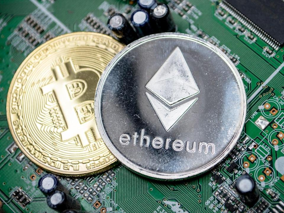 There were more daily active ethereum wallets than bitcoin wallets for the first time in crypto's history on 29 June, 2021 (Getty Images)