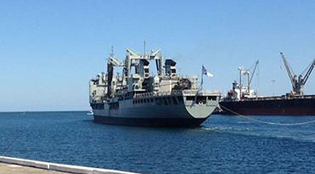 A picture of the HMAS Success departing Fremantle posted 15 hours ago. Photo: Facebook