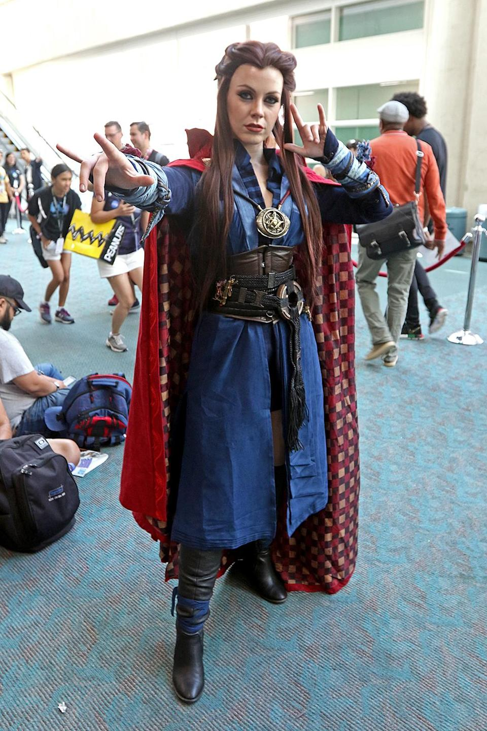 <p>Cosplayer dressed as Doctor Strange at Comic-Con International on July 20 in San Diego. (Photo: Angela Kim/Yahoo Entertainment) </p>