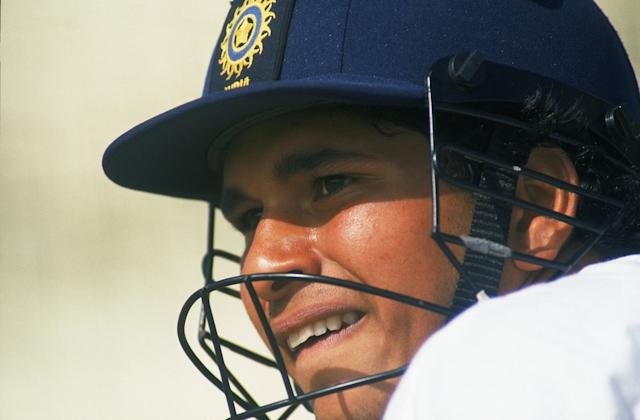 22 Aug 1990: Portrait of Sachin Tendulkar of India during a training session held before the Third Test Match against England to be played at the Oval, in London. \ Mandatory Credit: Ben Radford /Allsport
