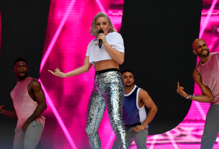Anne Marie on stage at Capital FM's Summertime Ball with Vodafone held at Wembley Stadium, London.