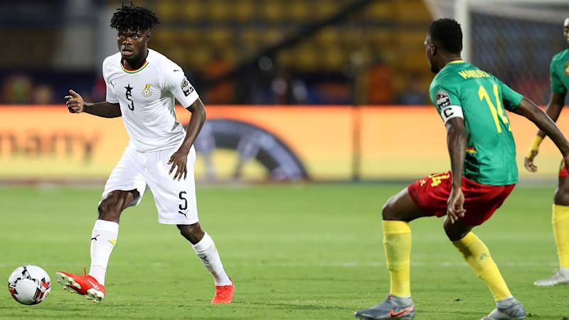 Ghana's Thomas Teye Partey and Georges Mandjeck of Cameroon