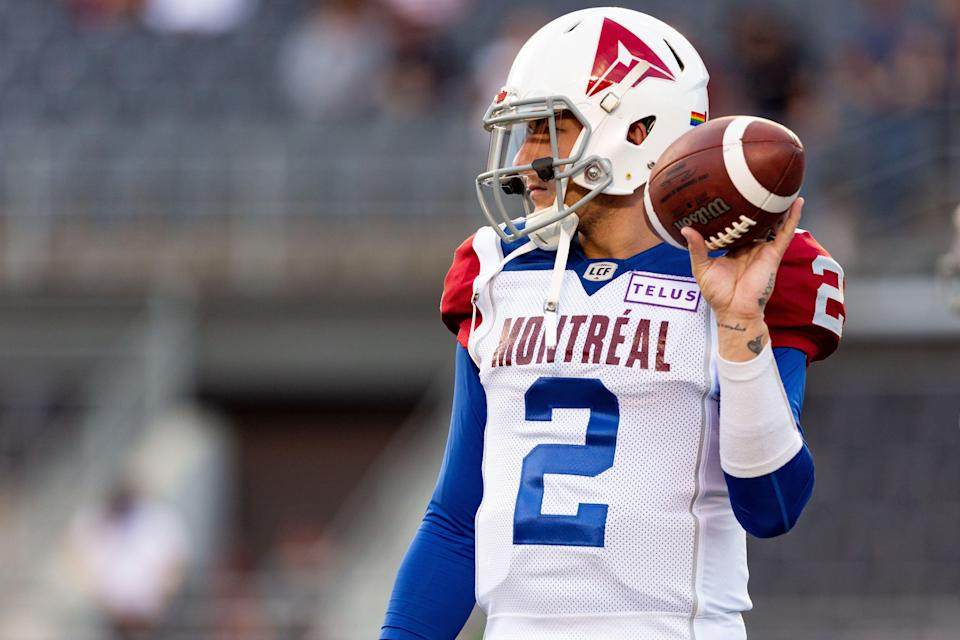 Johnny Manziel is done with the CFL forever, but the AAF has come calling. (Photo by Richard A. Whittaker/Icon Sportswire via Getty Images)