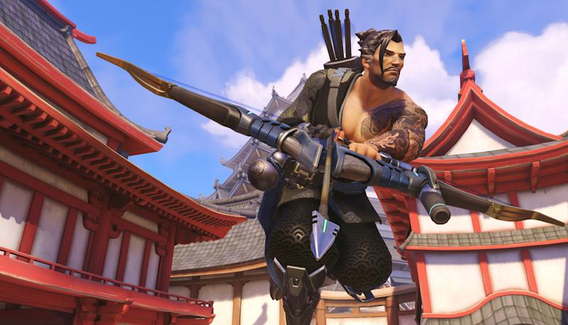 Hanzo gets some buffs in the newest Overwatch PTR buffs. (Blizzard)